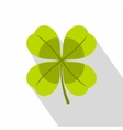 Green clover leaf icon flat style vector image vector image
