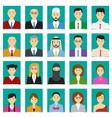 half body shot people in flat style with green vector image