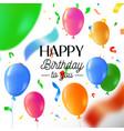happy birthday party fun balloon greeting card vector image vector image