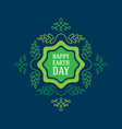 happy earth day april 22 graphic poster with vector image