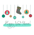 happy new year hand drawn sketch calligraphic vector image