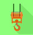 hook crane icon flat style vector image