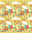 industrial seamless yellow pattern vector image vector image