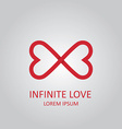 Infinite love logo vector image