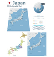 Japan maps with markers vector image vector image