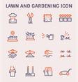lawn gardening icon vector image