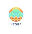 logo color waves vector image