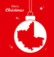 merry christmas theme with map of fresno vector image vector image