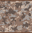 military camouflage pattern on fabric vector image