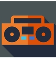 Modern flat design concept icon Boom box tape vector image vector image