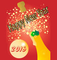 new years bottle vector image vector image