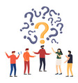 people frequently asked questions around question vector image