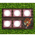 picnic bbq realistic top view plates on vector image vector image