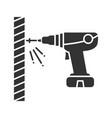 portable electric screwdriver glyph icon vector image