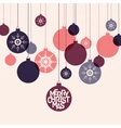 Retro winter holidays background with decorative vector image vector image