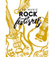 rock festival poster rock and roll sign slogan vector image