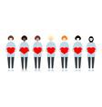 set diverse race women holding hearts vector image