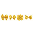 Set of isolated bow knots for gift decoration
