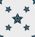 Star icon sign Seamless pattern with geometric vector image
