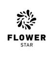 star logo design flower symbol graphic vector image vector image