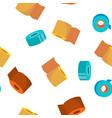 sticky tape rolls seamless pattern vector image