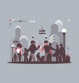 system tracking people in crowd vector image vector image