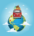 travel around world vector image vector image