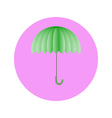 umbrella light green in circle vector image