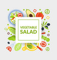 vegetarian salad banner template with fresh vector image