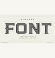 vintage style font alphabet letters western logo vector image