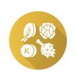 vitamin k yellow flat design long shadow glyph vector image vector image