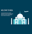 welcome to india lettering flat banner template vector image vector image