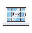window house isolated cute kawaii cartoon vector image vector image