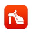 women shoe icon digital red vector image vector image