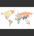 World map made of typographic country names vector image vector image