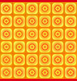 orange geometric seamless pattern vector image