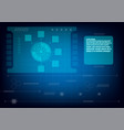 digital technology for business concept on blue vector image