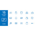 15 card icons vector image vector image