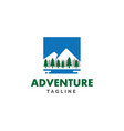 adventure snow mountains logo vector image vector image