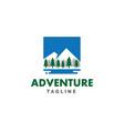 adventure snow mountains logo vector image