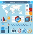 Airport Infographics Set vector image vector image