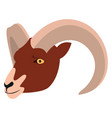 aries on white background vector image vector image