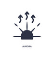aurora icon on white background simple element vector image vector image