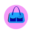 bag blue in circle vector image vector image