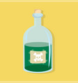 bottle of poison green flat style vector image