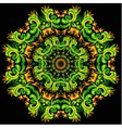 bright ornament card with mandala vector image vector image