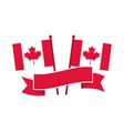 canada day canadian flags in pole banner freedom vector image