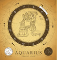 card with astrology aquarius zodiac sign vector image