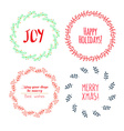 Christmas wreath drawn set vector image vector image