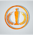 cinema award with statuette vector image vector image